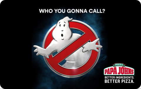 Ghostbusters-themed Papa John's Pizza Card. (Photo: Business Wire)