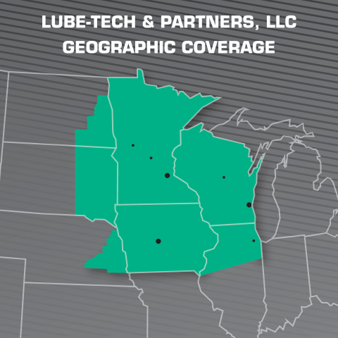 Lube-Tech & Partners, LLC Geographic Coverage (Photo: Business Wire)