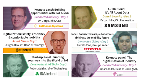 Keynote talks and panels at the IoT Tech Expo in Berlin on the 13-14th June 2016 (Graphic: Business  ...