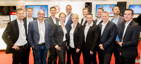 Twelve experts from the entire Delticom B2B area took part in the REIFEN trade fair in Essen (Photo: ...