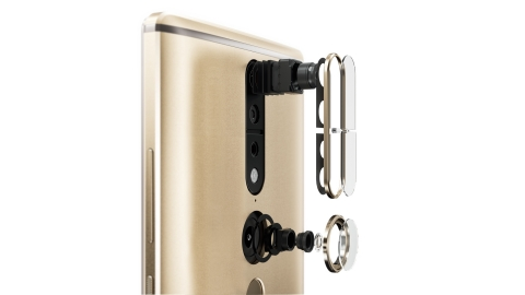 "Three core technologies bring Tango experiences to life: motion tracking, depth perception and area learning. Through motion tracking, the PHAB2 Pro's ""eye"" sees its own location in 3D. (Photo: Business Wire)"