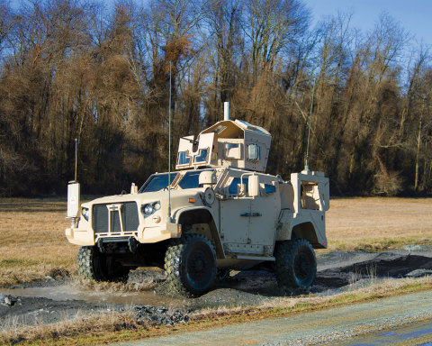 The Oshkosh JLTV provides soldiers with the transportability, performance and protection they need f ...
