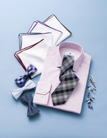 Celebrate Dads with gifts he'll love from select Macy's stores and macys.com; Ryan Seacrest Distinction Dress Shirt-$69.50, Tie-$59.50, Bow Tie-$49.50, Pocket Square-$30, Accessories-$29.50-$90 (Photo: Business Wire)