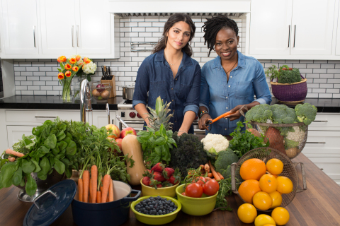 Yummy Spoonfuls® founder, Agatha Achindu and co-founder, Camila Alves, announce the national availability of their organic, frozen, baby food at nearly all Target stores on June 12. (Photo: Business Wire)