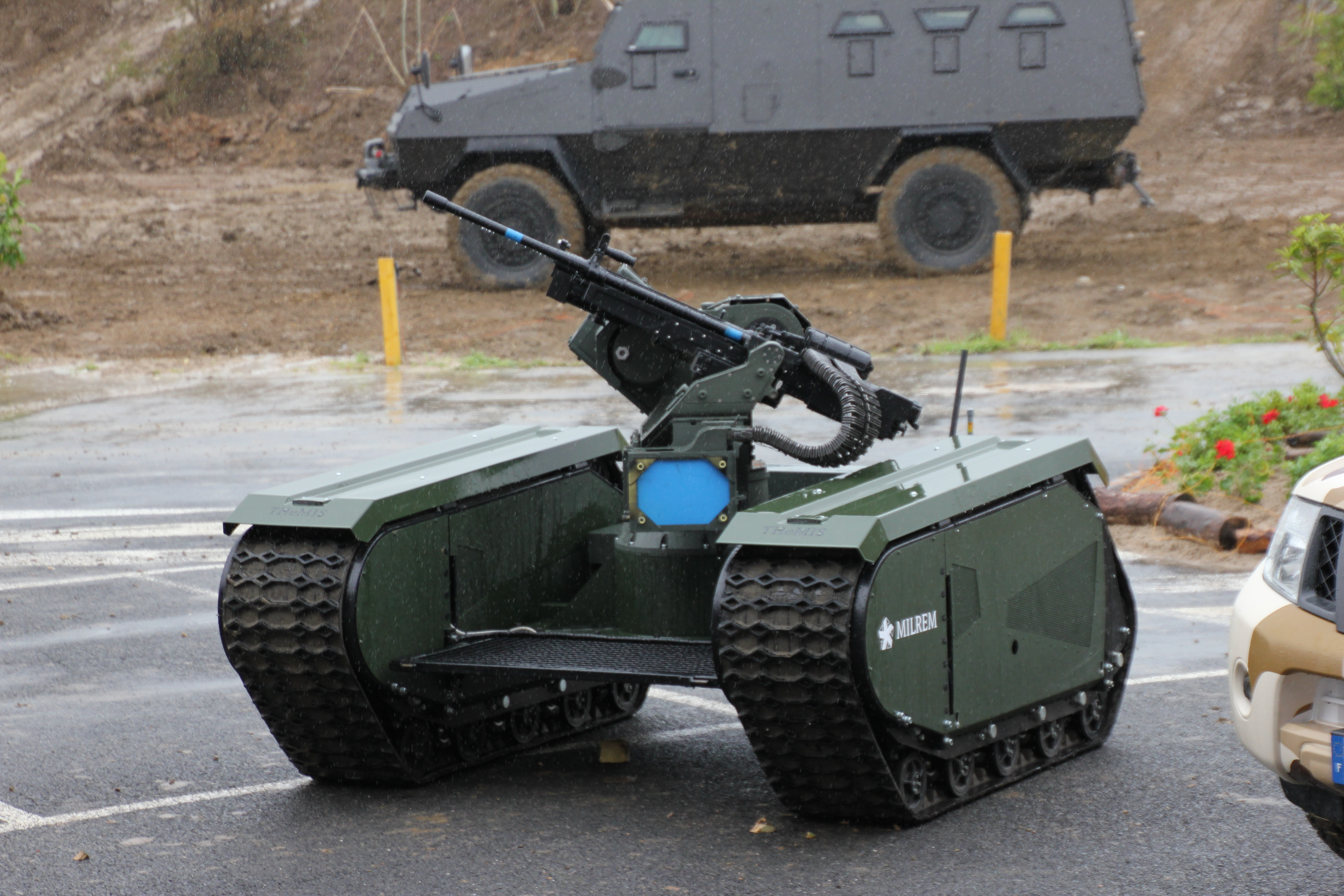 milrem and st kinetics to demo themis adder unmanned combat vehicle
