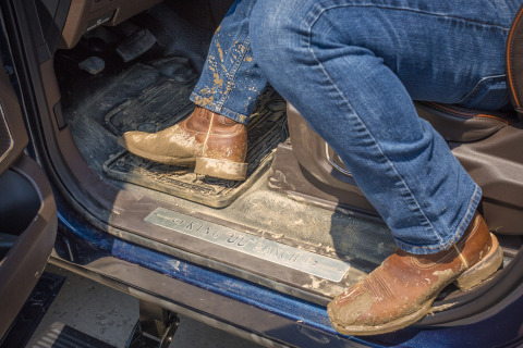 Ford is adding durable, premium vinyl flooring as an option for all-new F-Series Super Duty King Ran ...
