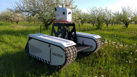 Milrem and Leica Geosystems Announce Pegasus:Multiscope: A New Unmanned Ground Vehicle for Surveying, Security, and Monitoring Applications (Photo: Business Wire)