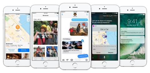 iOS 10 features a massive update to Messages, redesigned apps and exciting opportunities for developers. (Photo: Business Wire)