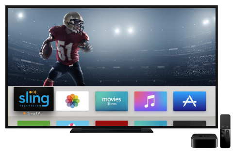 Sling TV is now available on Apple TV (4th generation) delivering a live, linear and on-demand multichannel pay-TV service all within a single app. (Photo: Business Wire)