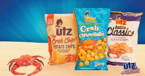 Utz® Crab seasoned snack line. (Photo: Business Wire)