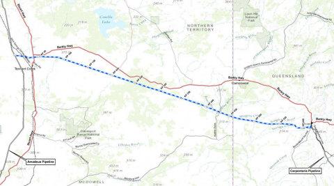 Image 1: Jemena NEGI preferred route pipeline overview. (Source: www.jemena.com.au)