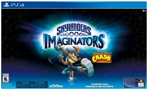The Skylanders Imaginators Starter Pack Featuring Crash Bandicoot will be available exclusively for PlayStation® 4 and PlayStation® 3 at launch on Oct. 16 in North America, Oct. 14 in Europe and Oct. 13 in APAC. Fans can pre-order the Starter Pack starting today! (Photo: Business Wire)