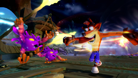 Crash Bandicoot in Skylanders Imaginators will merge elements fans have come to know and love with Skylanders Imaginators'. Fans will enjoy seeing Crash and his signature spin attack, as well as moves that incorporate exploding crates with 3-2-1 countdowns, wumpa fruit, jetpack attack from high in the air and more. (Photo: Business Wire)