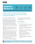 Survey: Security in Application Development