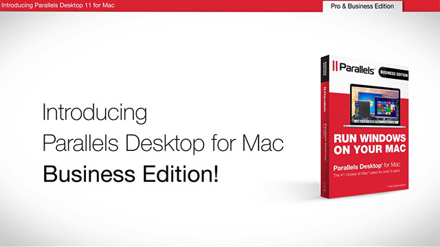 Video of how to run Windows on a Mac with the No. 1-selling Parallels Desktop 11 for Mac software which celebrates 10 years of innovation and industry firsts June 14-21, 2016 on Parallels.com.