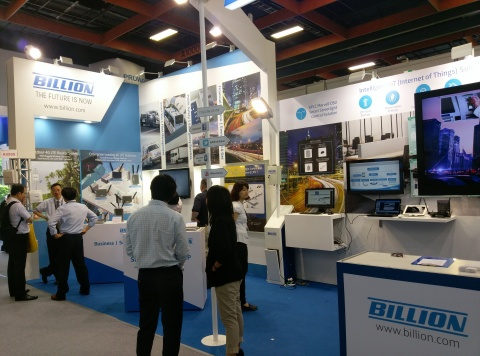Billion Electric exhibited innovative networking products for M2M/LTE & Business/SoHo and IoT solutions for Smart Energy Management & Smart Indoor/Streetlight Control at Computex 2016 (Photo: Business Wire)