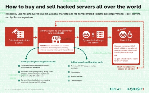 How to buy and sell hacked servers all over the world (Graphic: Business Wire)