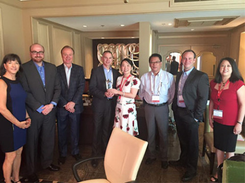 MCC presents Digi-Key Electronics with Distribution Partner of the Year 2015 award -- From left to r ...