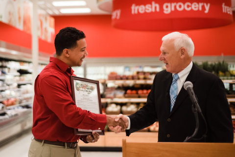 Target Store Team Leader Matthew D. Johnson and Supervisor Ron Roberts. (Photo: Business Wire)