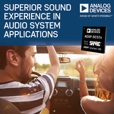 New Analog Devices SHARC® Processor Platform Delivers Superior Sound Experience in Audio System Applications (Photo: Business Wire)