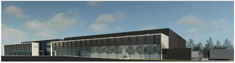 Digital rendering of CyrusOne's new Sterling II facility. (Graphic: Business Wire)