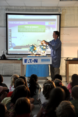 Eaton hosted an ENERGY STAR® Day at Huddleston Elementary School in Peachtree City, Georgia to educate students about energy usage and ways they can reduce energy consumption. (Photo: Business Wire)