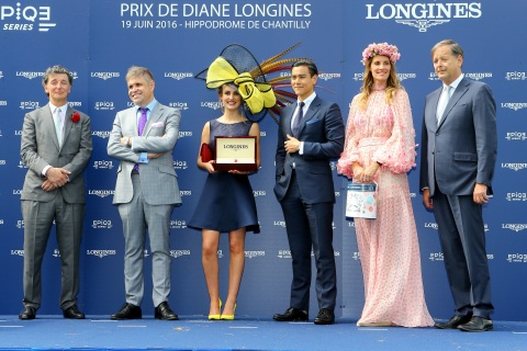 """At the """"Mademoiselle Diane par Longines"""" prize giving ceremony taking place on June 19, 2016 during  ..."""