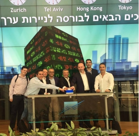 Leaders from Accenture and The Floor celebrate at the Tel Aviv Stock Exchange. (Photo: Business Wire)