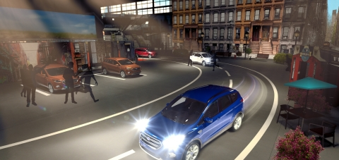 This artist rendering hints at what's in store for players in Escape NYC: An Escape the Room Driving Experience. The event – a collaboration between Ford Motor Company and game creator Victor Blake – takes place at Moynihan Station in Midtown Manhattan, June 23-26. (Graphic: Business Wire)
