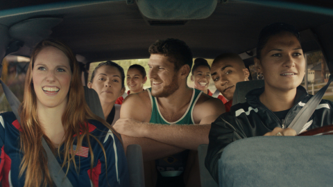 "The ""Carpool"" film melds a diverse roster of more than 20 members of Team Visa -- a group of Visa sp ..."