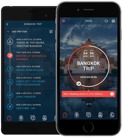 Alle Reisedokumente in einer innovativen Reiseplanung-App (Photo: Business Wire)