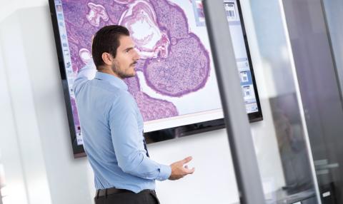 Education using digital pathology (Photo: Business Wire).