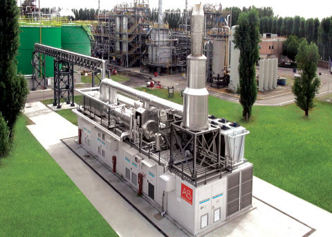 AB, a globally leading combined heat and power and biogas project developer based in Italy, has purchased 115 of GE's high-efficiency Jenbacher Type 3 and Type 4 biogas engines. (Photo: Business Wire)