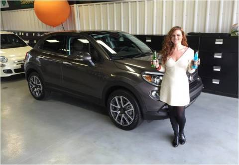 2015 Grand Prize Winner, Beth Edwards, from Lexington, KY, with her brand new Fiat 500X! (Photo: Business Wire)