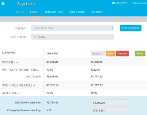 Providing paycheck analysis has never been easier with TRAK-Online's brand new Paycheck Calculator from Trust Builders, Inc. (Graphic: Business Wire)