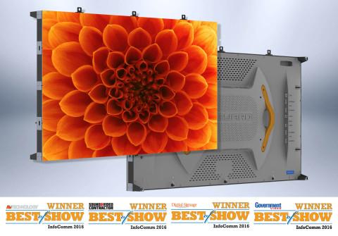 Leyard TWA Series fine pitch LED video wall wins big at InfoComm 2016 (Photo: Business Wire)