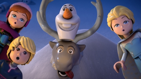 Image from Frozen Northern Lights animated shorts from the LEGO Group (Photo: Business Wire)