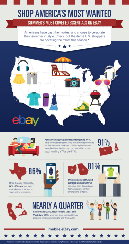 """eBay's """"Summer of Choice"""" survey indicates what Americans want most this summer. (Graphic: Business Wire)"""