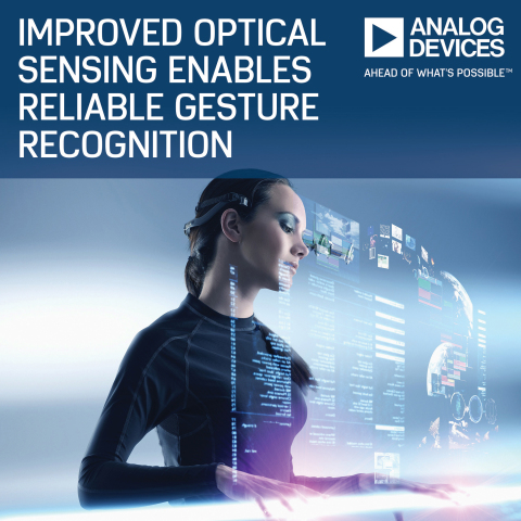 Analog Devices' Optical Sensor Improves Reliability of Gesture Recognition Applications (Photo: Business Wire)