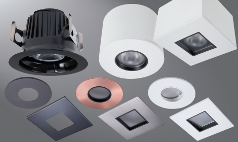 Eaton's technology on display at PCBC includes Halo ML4 LED Downlights. The diminutive and uniquely modular recessed downlight system  features a choice of a field-interchangeable, round or square, 2-inch aperture pinhole trim, available in multiple aperture styles, optical distributions and finishes.  (Photo: Business Wire)