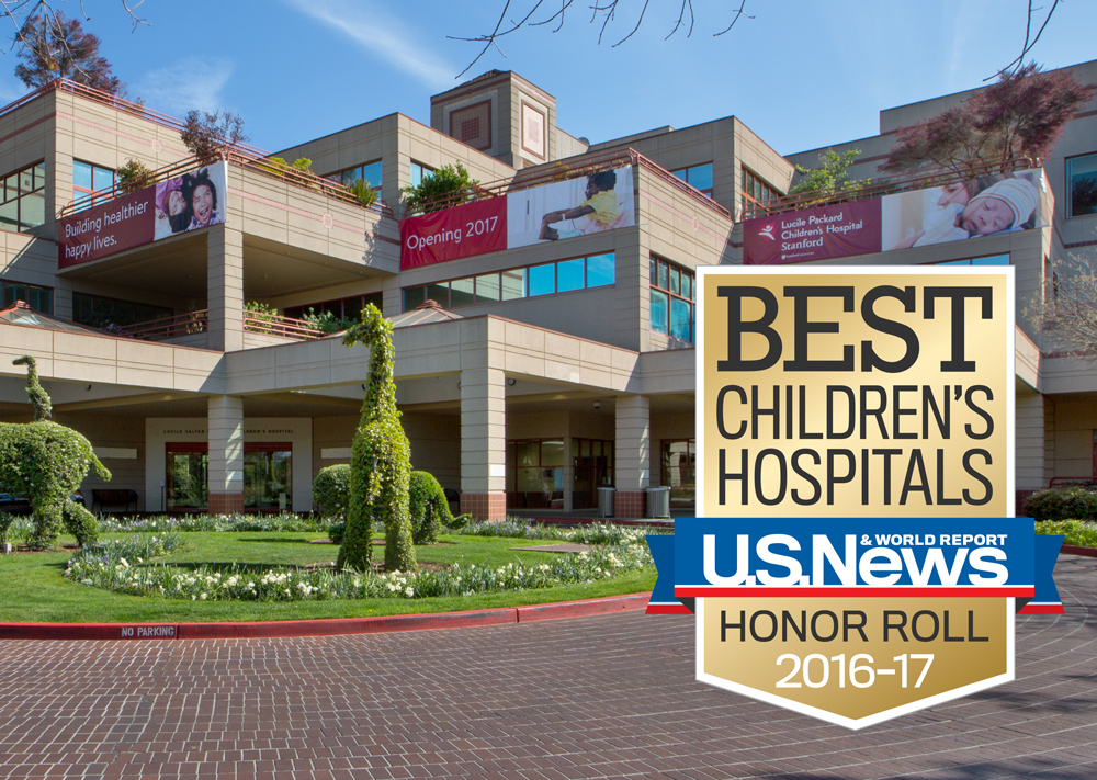 Lucile Packard Children's Hospital Stanford Named to U S  News