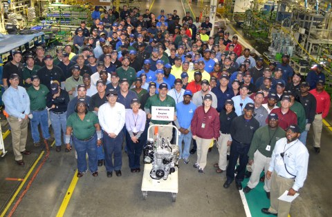 2015 Toyota Motor Manufacturing Alabama (TMMAL) - 4 Millionth Engine Line-Off Celebration (Photo: Business Wire)