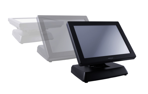 The XT3915, like the entire Posiflex XT Series Touch Screen Terminals, has a foldable neck to allow from fold flat to full upright position for optimum viewing. (Graphic: Business Wire)