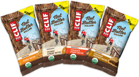 Clif Bar & Company Unveils a Category-First, CLIF Nut Butter Filled Energy Bars available in four new flavors: Chocolate Hazelnut Butter, Chocolate Peanut Butter, Coconut Almond Butter and Peanut Butter. (Photo: Business Wire)