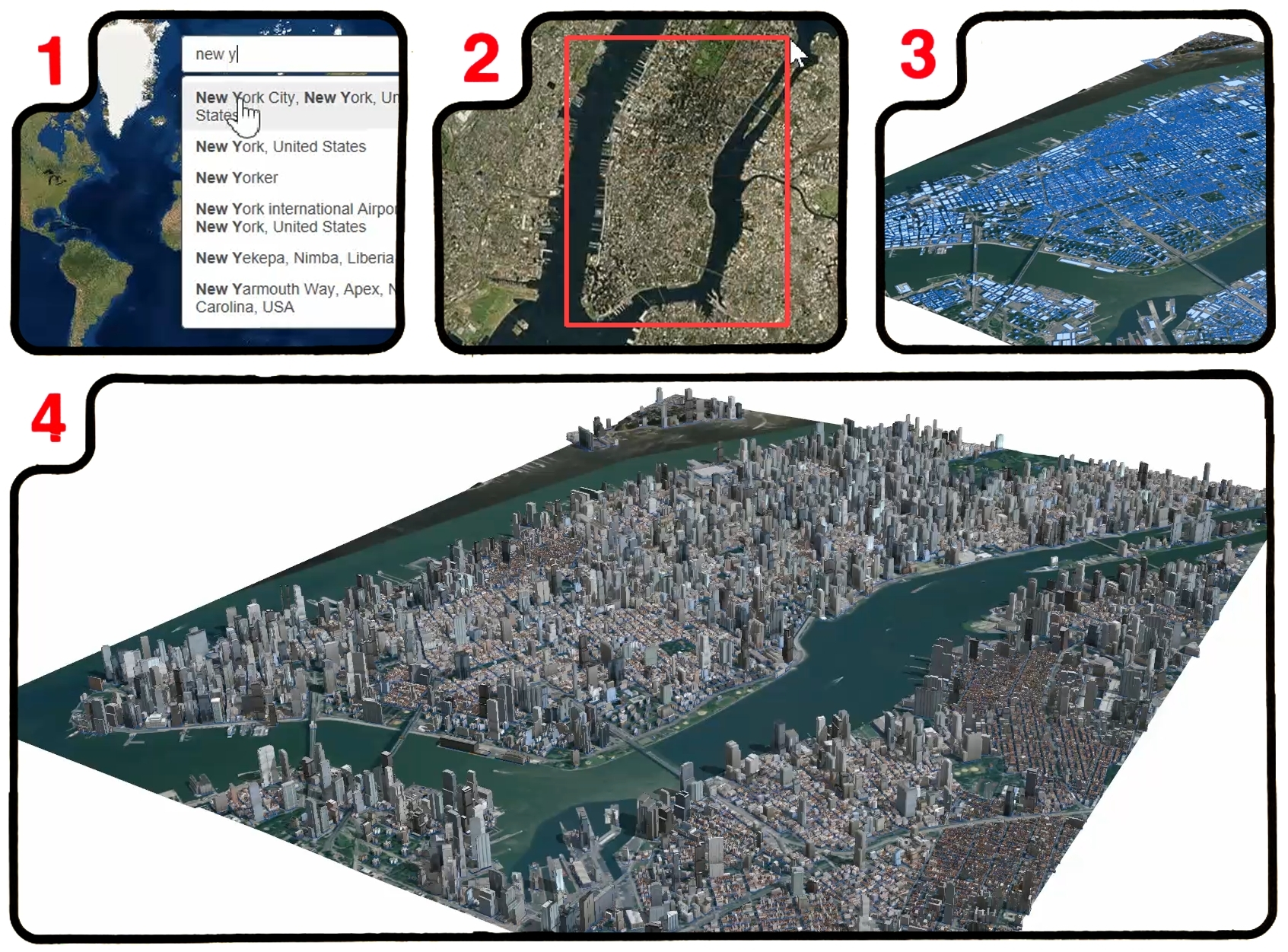 Build Smart D Cities In Minutes With GameChanging Esri - New york map data