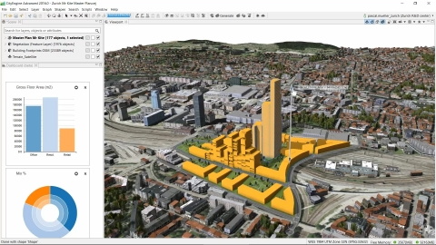 Esri CityEngine 2016 can design buildings and allows the consumption of elevation and basemaps from ArcGIS Online. (Graphic: Business Wire)