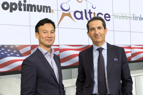 Dexter Goei, President, Altice N.V., and Chairman and Chief Executive Officer, Altice USA (left) Pat ...