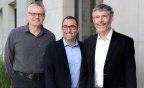 Apstra Founders CTO Sasha Ratkovic, CEO Mansour Karam and Chief Scientist David Cheriton delivering the first vendor agnostic data center automation. Photo credit: Vladimir Perlovich