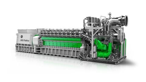 GE's Jenbacher J920 FleXtra gas engine. (Photo: Business Wire)