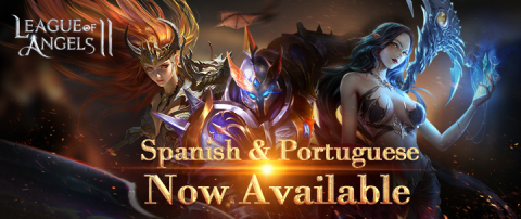 La version Espanola y Portuguesa ya estan on-line. League of Angels II sigue esforzandose en el extranjero (Graphic: Business Wire)